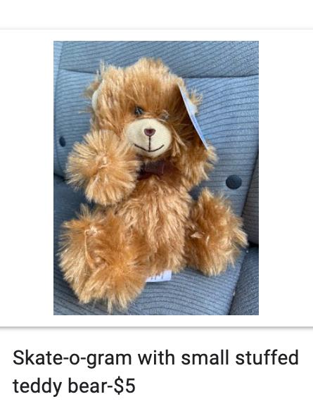 Skate-o-gram Teddy Bear