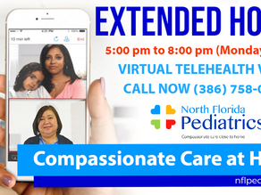 EXTENDED HOURS - VIRTUAL TELEHEALTH VISITS!
