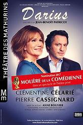 Nomination Molière de la comédienne 2017 Clémentine Célarié