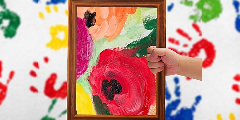 $10 Fine Art Finger Painting - Shellharbour Library