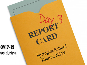 REPORT CARD - Day 3 Home School