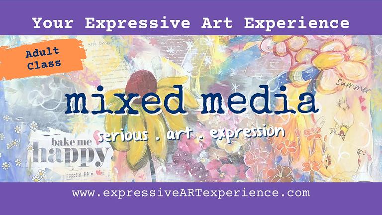 FRIDAYS - Your Expressive Art Mixed Media class x 5 weeks