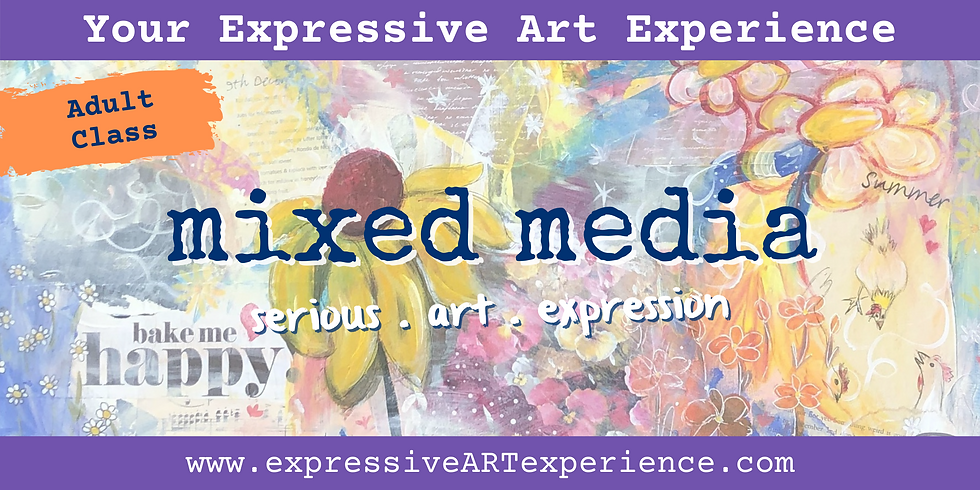 FRIDAYS - your Expressive Art mixed media experience x 5 weeks
