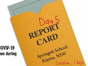 REPORT CARD - Day 5 Home School