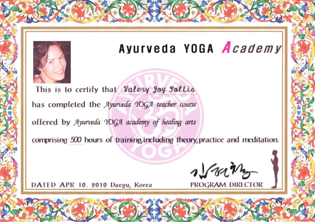 Ayurveda Yoga Training