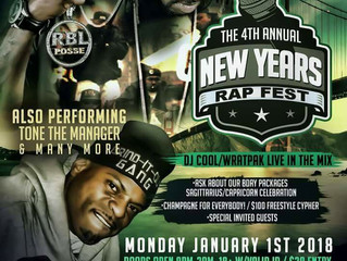 """Ran Blacc To Perform With RBL Posse At 4th Annual """"New Years Rap Fest""""."""