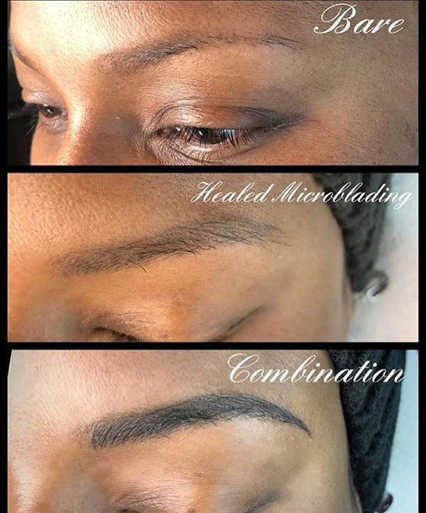 Beautiful brow magic by @tat2edbeauty —