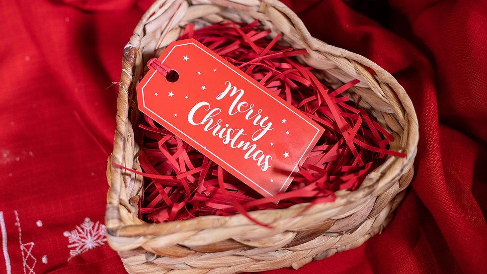 Heart Wicker Gift Basket