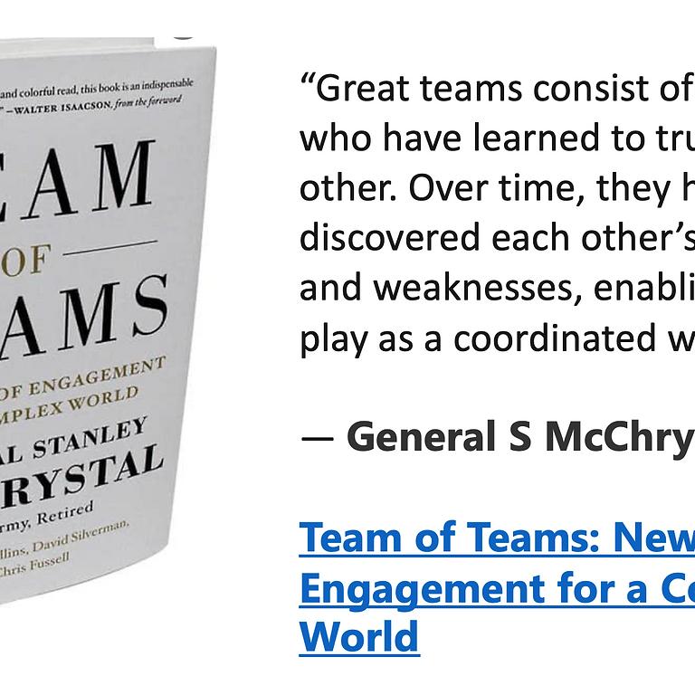 Book Club - Team of Teams by General Stanley McChrystal
