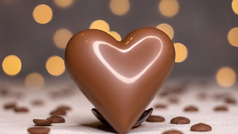 Mini Chocolate Filled Heart