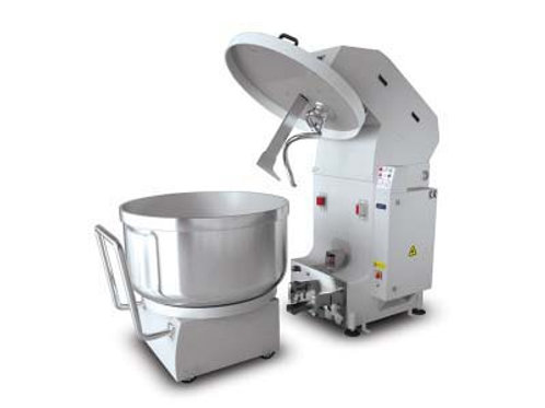 Spiral mixer with mobile bowl provides to mix the dough in a short time. It enab