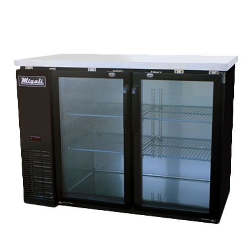 NEW MIGALI GLASS BACK BAR CABINET REFRIGERATED