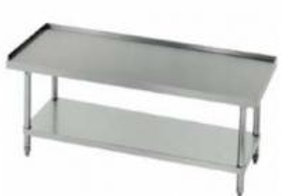 EQUIPMENT STANDS STAINLESS STEEL TOP LEGS/UNERSHELF