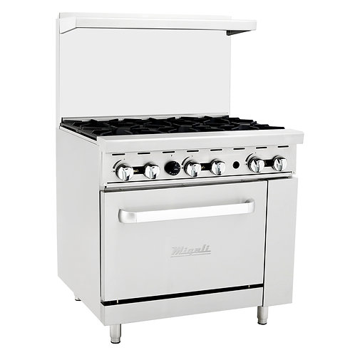 NEW MIGALI RANGE 36' RESTAURANT GAS  NG