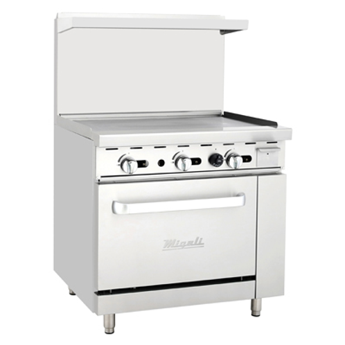 "NEW MIGALI RANGE 36"" RESTAURANT GAS LP"