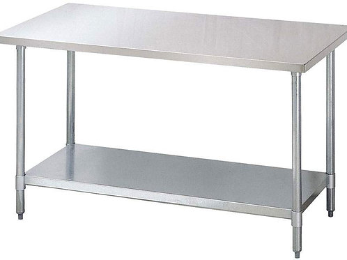 WORKTABLES STAINLESS STEEL TOP GALVANIZED UNDERSHELF