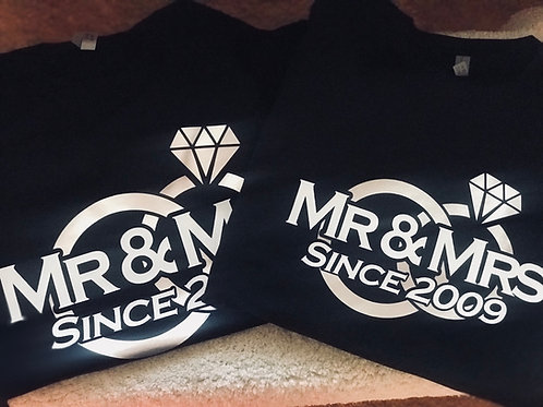 Mr & Mrs Since...- Couple Tees (2 shirt)