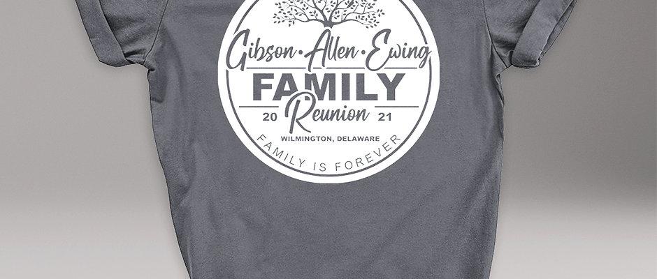Gibson Allen Ewing Family Reunion T-shirt - ADULT