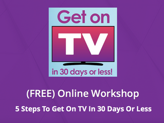 Be a TV Presenter: FREE Webinar Video!