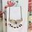 Thumbnail: Art Deco Dainty Purple Glass Flower Necklace