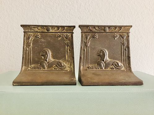 Art Deco Bradley and Hubbard Egyptian Sphinx Book Ends