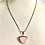 Thumbnail: Vintage Sterling Silver and Rose Quartz Triangle Necklace and Earrings