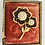 Thumbnail: Vintage Black, White, and Gold Double Sunflower Broach Pin