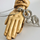 Thumbnail: Vintage Hand Carved Praying Hands Made in Israel