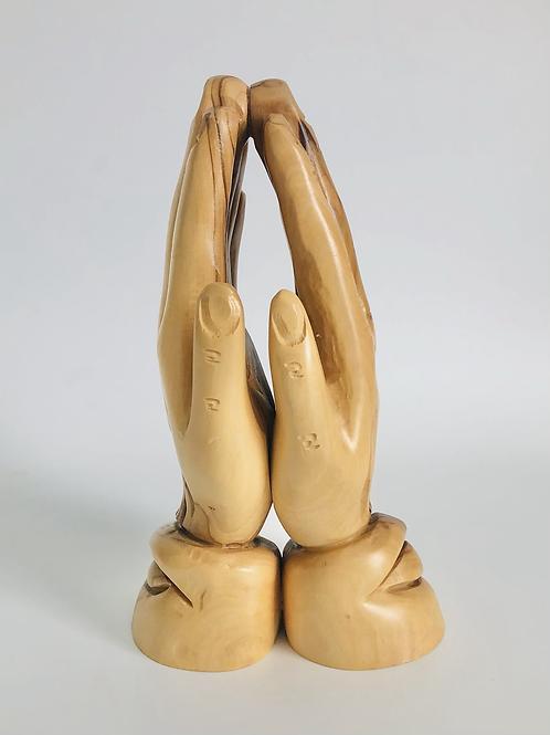 Vintage Hand Carved Praying Hands Made in Israel