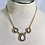 Thumbnail: Vintage Faux Opal and Pearl Teardrop Necklace