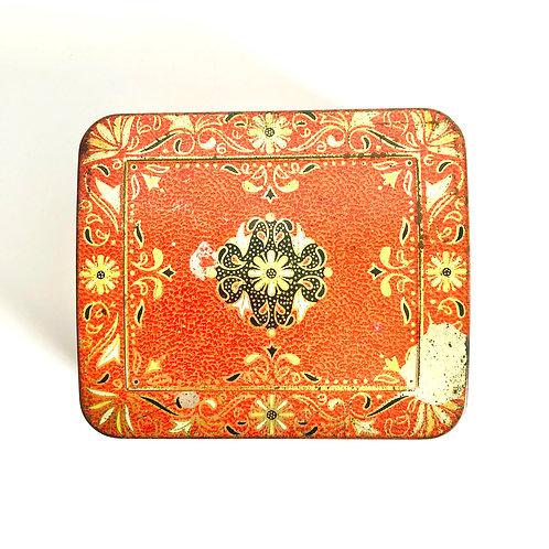 Vintage Red Horner Tin / Trinket Box