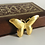 Thumbnail: Vintage Gold Whimsical Butterfly Pin