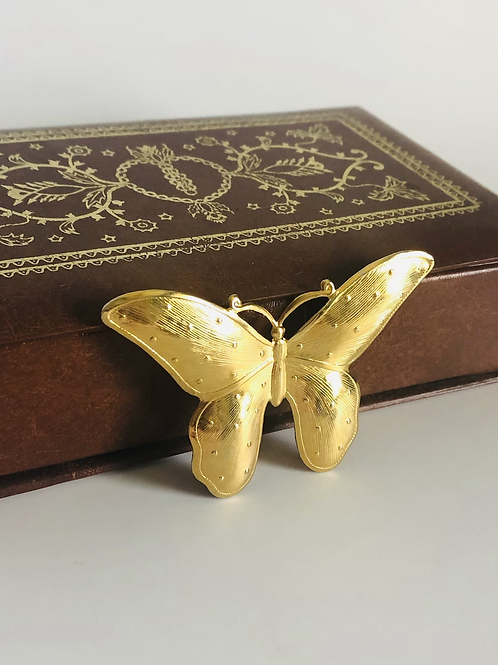 Vintage Gold Whimsical Butterfly Pin