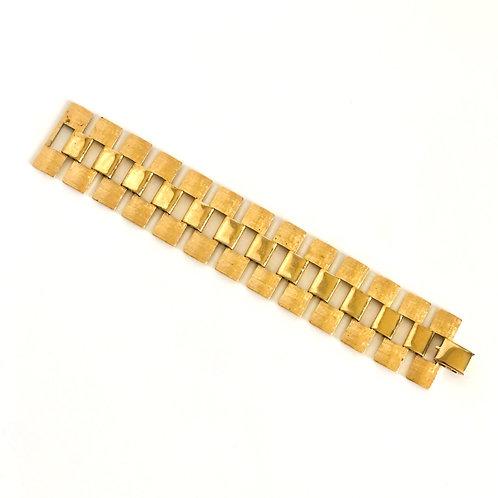 Vintage Wide Brass Boho Style Bracelet
