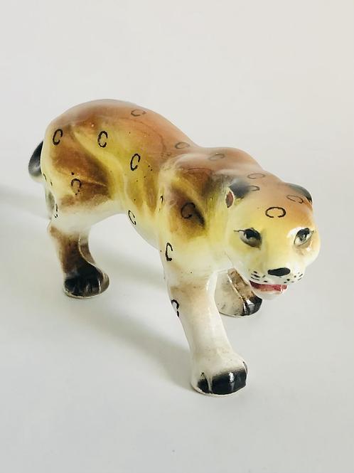 Vintage Hand Painted Jaguar Cat Figurine