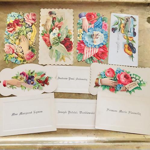 Antique Victorian Calling Cards Set of Ten