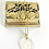 Thumbnail: Beautiful Brass Vintage Floral Ring Box