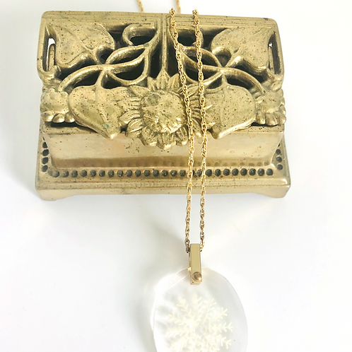 Beautiful Brass Vintage Floral Ring Box