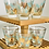 Thumbnail: Vintage Set of 6 MidCentury Blue and Gold Cocktail Glasses