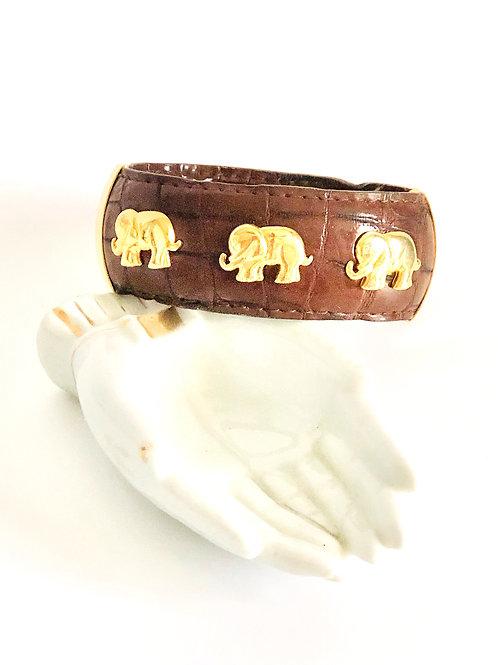 Vintage Elephant Cuff Bracelet