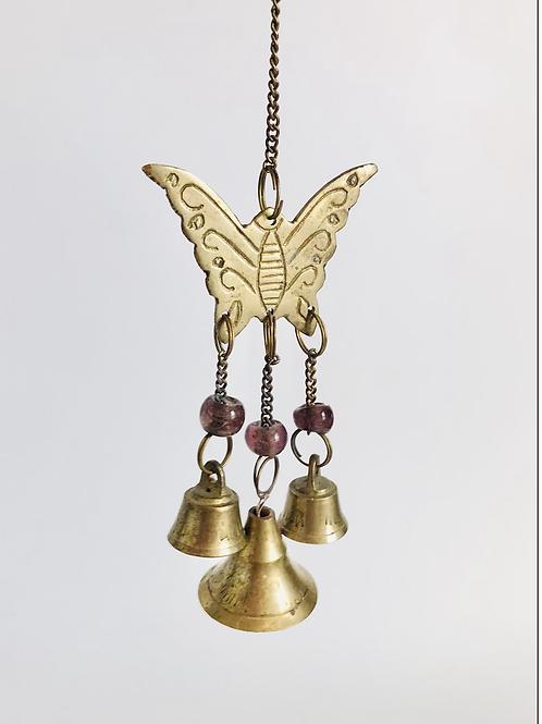 Vintage Brass Butterfly Mini Wind Chime