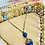 Thumbnail: Vintage Lapis Blue Art Deco Double Drop Necklace