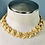 Thumbnail: Vintage Large X Gold Anne Klein Choker Necklace