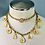 Thumbnail: Vintage Gold Anne Klein Abstract Charm Necklace