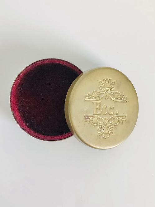 Vintage Brass Etc. Circle Jewelry Keepsake Box
