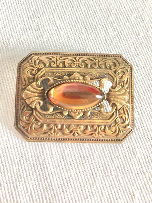 Vintage Intricate Square Deco Style Broach Pin