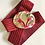 Thumbnail: Vintage Red 1980s Calla Lily Buckle Stretch Belt
