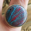 Thumbnail: Hand Made Sterling Silver Ring with Motor City Agate Blue Center