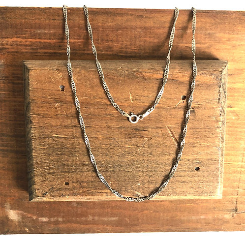 Vintage Spiral Style Sterling Silver Chain