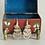 Thumbnail: Vintage Red Cloisonné Enamel Keepsake Box with Brass Feet
